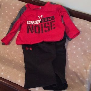 Baby boy under Armour outfit